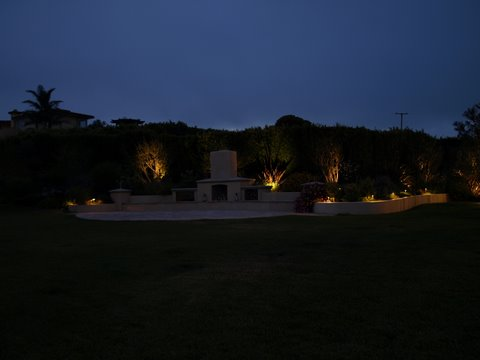 Landscape Lighting Lake Sherwood Patio Area