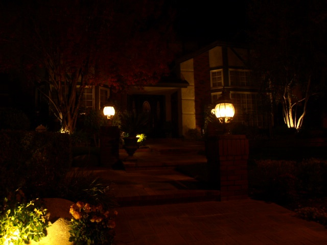 Landscape Lighting Lake Sherwood Entrance